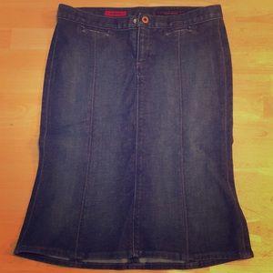 AG  the Grace denim skirt